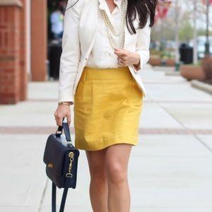 Fully Lined Mustard Linen (blended) Skirt